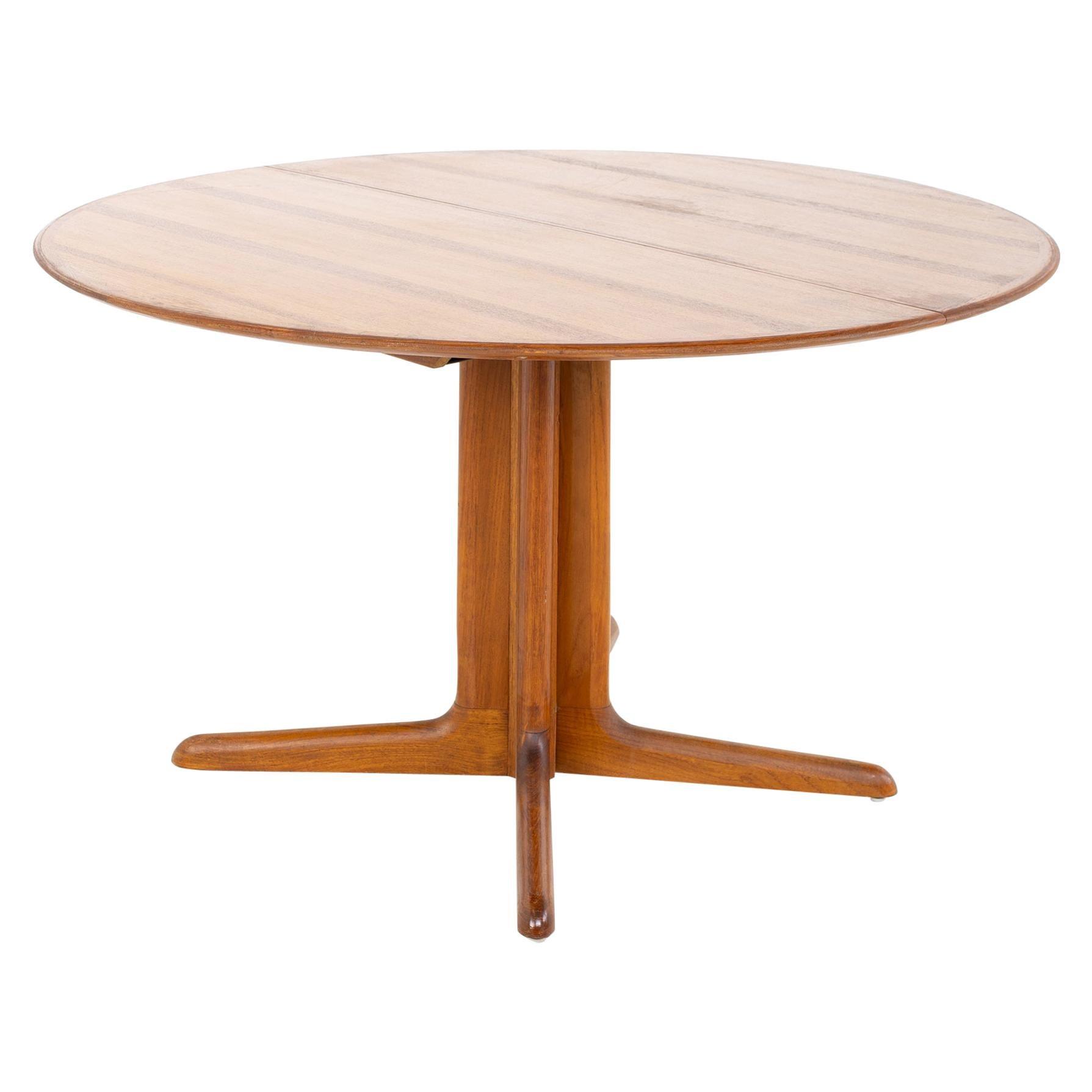 Dyrlund Mid Century Teak Round Dining Table