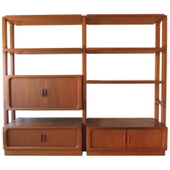Dyrlund Modular Wall Unit Modell 2000 with Bar, Danish Modern, Solid Teak, 1960s