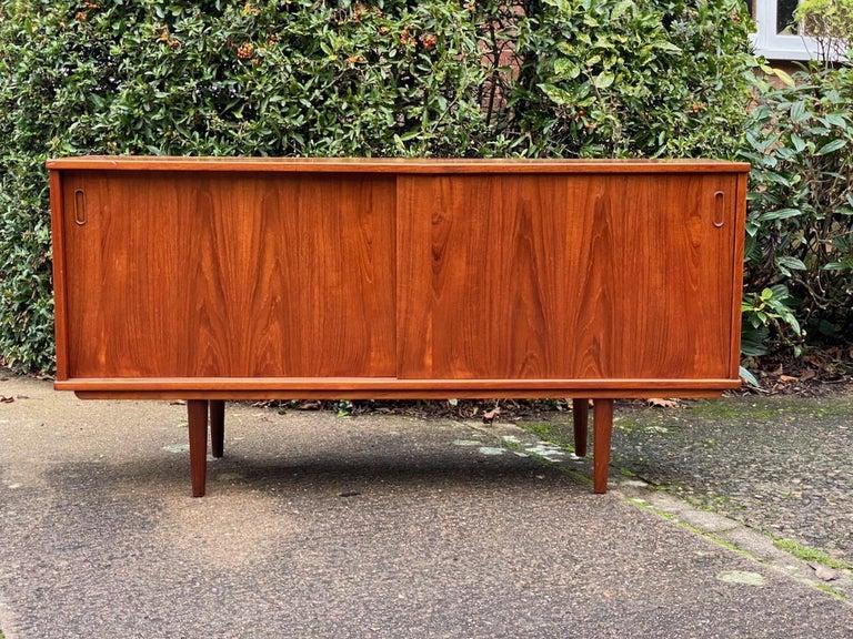 Dyrlund Teak Sideboard Credenza Midcentury Danish, circa 1970s For Sale 8