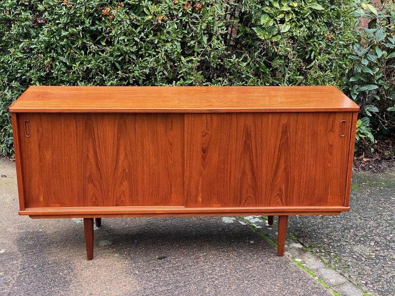 Mid-Century Modern Dyrlund Teak Sideboard Credenza Midcentury Danish, circa 1970s For Sale