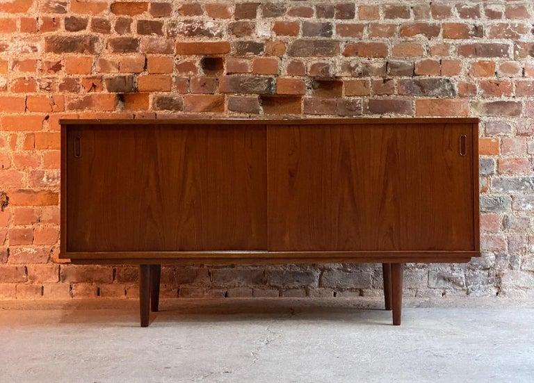 Dyrlund Teak Sideboard Credenza Midcentury Danish, circa 1970s For Sale 4