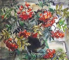 Mountain ash. 1989. Paper, watercolor, 61x70 cm
