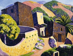 French Landscape by American Modernist Painter E. Ambrose Webster, La Gaude I