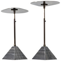 EÆ 'Black Mirror' Bronze and Marble Cocktail Table by Erickson Aesthetics