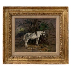 E. Boudin 'Paris' 'Study of a Grey Horse' Provenance-Sotheby's, London