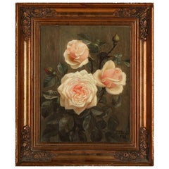 E. C. Ulnitz Pink Roses, Signed and Dated E. C. Ulnitz 1930, Oil on Canvas