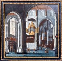 Interior Of Grote Kerk, Rotterdam, 17th Century