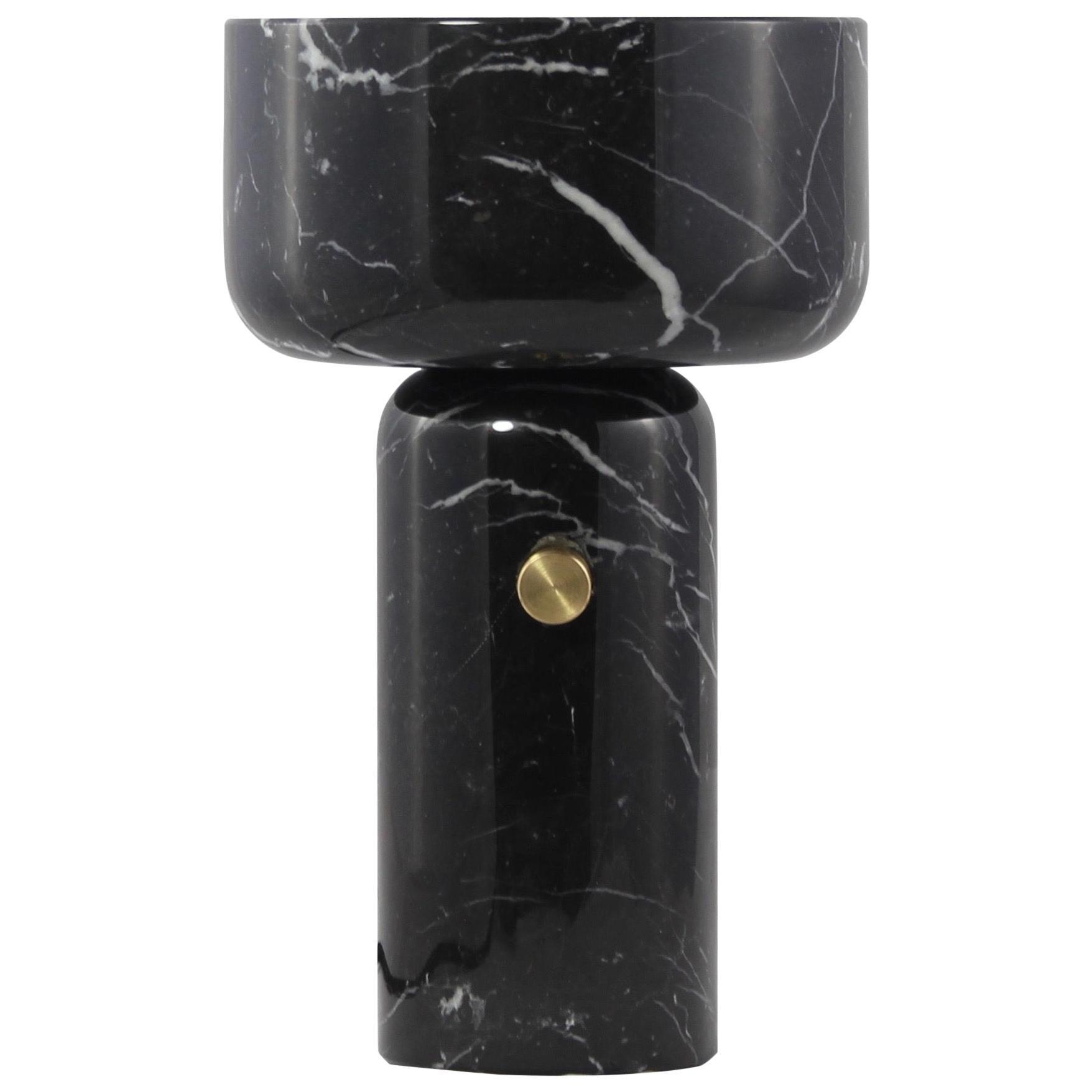 E. Elizarova for Matlight Italian Andromeda Black Marble Grand Cup Table Lamp