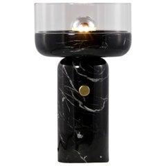E. Elizarova for Matlight Studio Italian Black Marble and Glass Cup Table Lamp