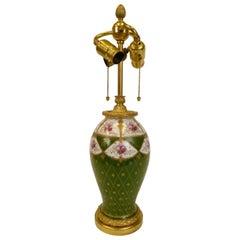 E F Caldwell Gilt Bronze Mounted Porcelain Lamp Base