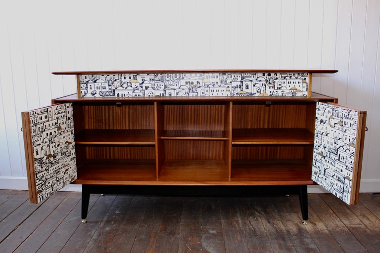 E Gomme 'G-Plan' Teak Sideboard with Fornasetti Decoupage, 1958 For Sale 6