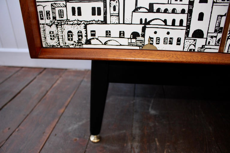 E Gomme 'G-Plan' Teak Sideboard with Fornasetti Decoupage, 1958 For Sale 2