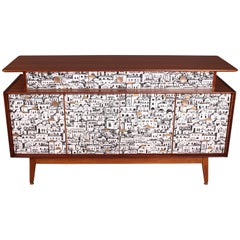 E Gomme (G-Plan) Teak Sideboard with Fornasetti Decoupage 1958