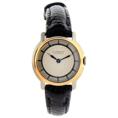 E. Gubelin 18 Karat, Two-Tone Rose and White Gold Ladies Art Deco Watch