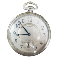 E. Howard 17 Jewels 3 Positions White Gold Filled Pocket Watch, circa 1917