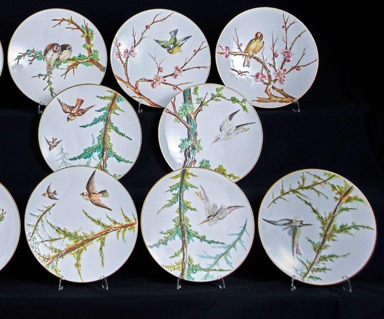 E J D Bodley Relief 24 Moulded Pieces Bone China Dessert Service For Sale 2