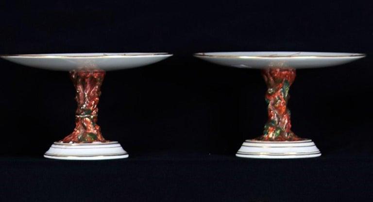 E J D Bodley Relief 24 Moulded Pieces Bone China Dessert Service For Sale 5
