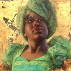 Young Dreams, egg tempera, 18 x18, Portraiture, Roya, Zimbabwe, Finalist PSA