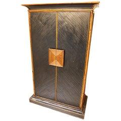 E. Murio Design Cabinet, Wood and Bamboo, 1970