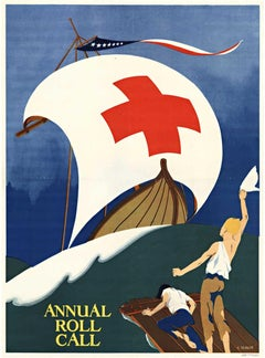 Red Cross Annual Roll Call original vintage poster