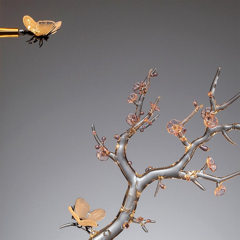 Italian E-Sumi Butterfly Table Installation by Simone Crestani For Sale