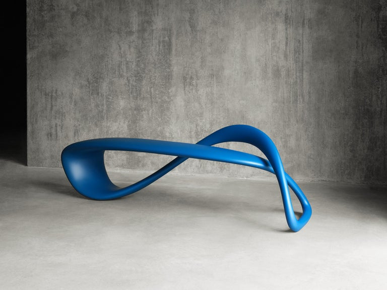E-Turn, Lacquered Fibreglass Sculptural Bench Seat by Brodie Neill 4