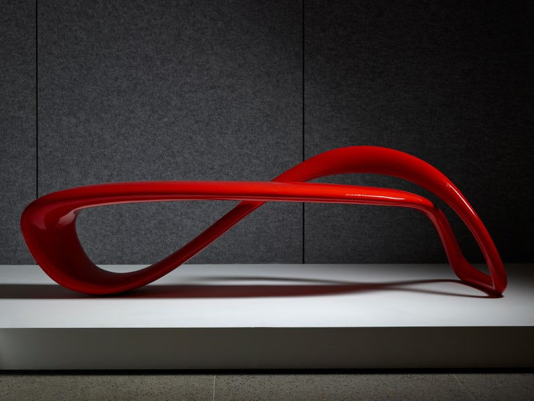 Contemporary E-Turn, Lacquered Fibreglass Sculptural Bench Seat by Brodie Neill For Sale