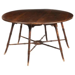 E W Godwin, an Anglo-Japanese Aesthetic Movement Walnut Centre or Dining Table