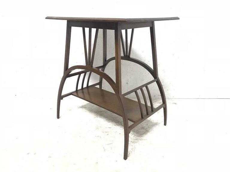 English E W Godwin Attributed to an Anglo Japanese Mahogany Side Table For Sale