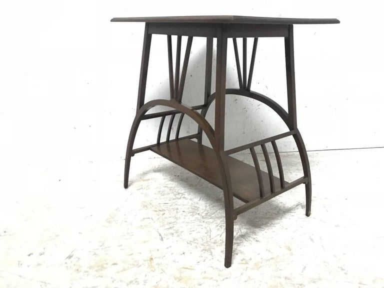 E W Godwin Attributed to an Anglo Japanese Mahogany Side Table In Good Condition For Sale In London, GB