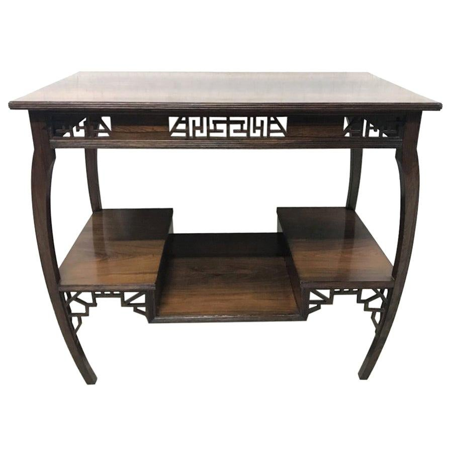 E W Godwin Made by Collinson & Lock an Exceptional Anglo Japanese Rosewood Table