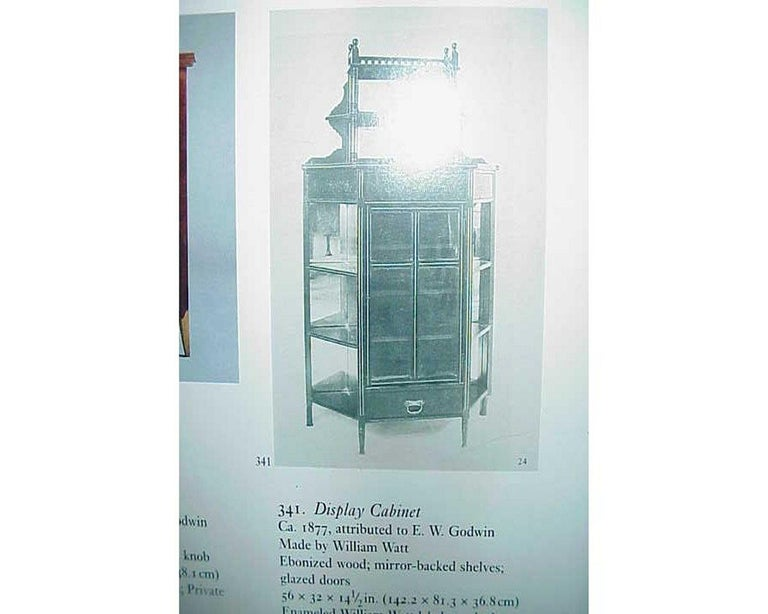 E W Godwin, William Watt, an Important Anglo-Japanese Ebonised Display Cabinet For Sale 3