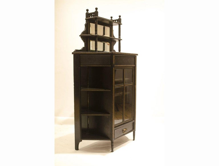 English E W Godwin, William Watt, an Important Anglo-Japanese Ebonised Display Cabinet For Sale