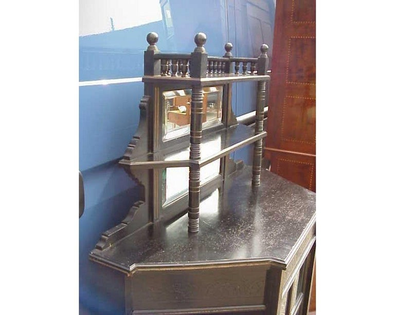 E W Godwin, William Watt, an Important Anglo-Japanese Ebonised Display Cabinet In Good Condition For Sale In London, GB