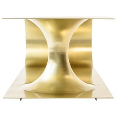 EÆ Wormhole Occasional Coffee Table in Polished Brass Plated Steel