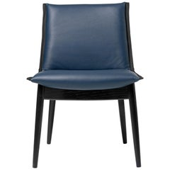 E004 Embrace Chair in Oak Black with Thor 350 Leather & Black Edging by EOOS