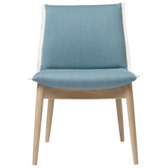 E004 Embrace Chair in Oak White Oil with Mood 3103 Fabric & White Edging by EOOS