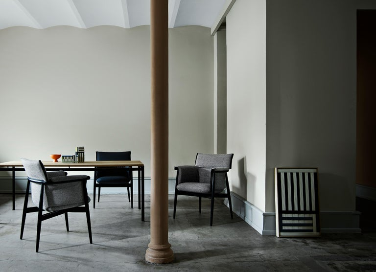 E005 Embrace Dining Chair in Oak Painted Black with Black Edging Strip by EOOS In New Condition For Sale In New York, NY
