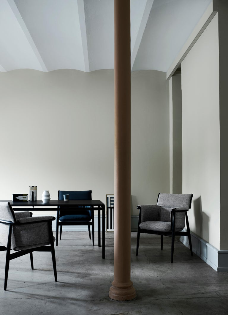 Contemporary E005 Embrace Dining Chair in Oak Painted Black with Black Edging Strip by EOOS For Sale