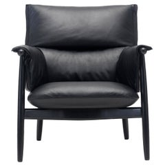 E015 Embrace Lounge Chair in Painted Black Oak and Black Edging Strip by Eoos