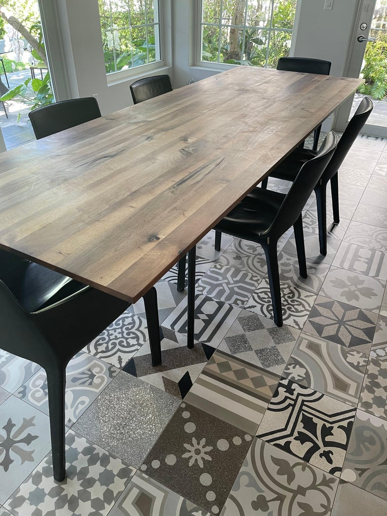 E15 Anton European Walnut Top Wood Table designed by Philipp Mainzer For Sale 4