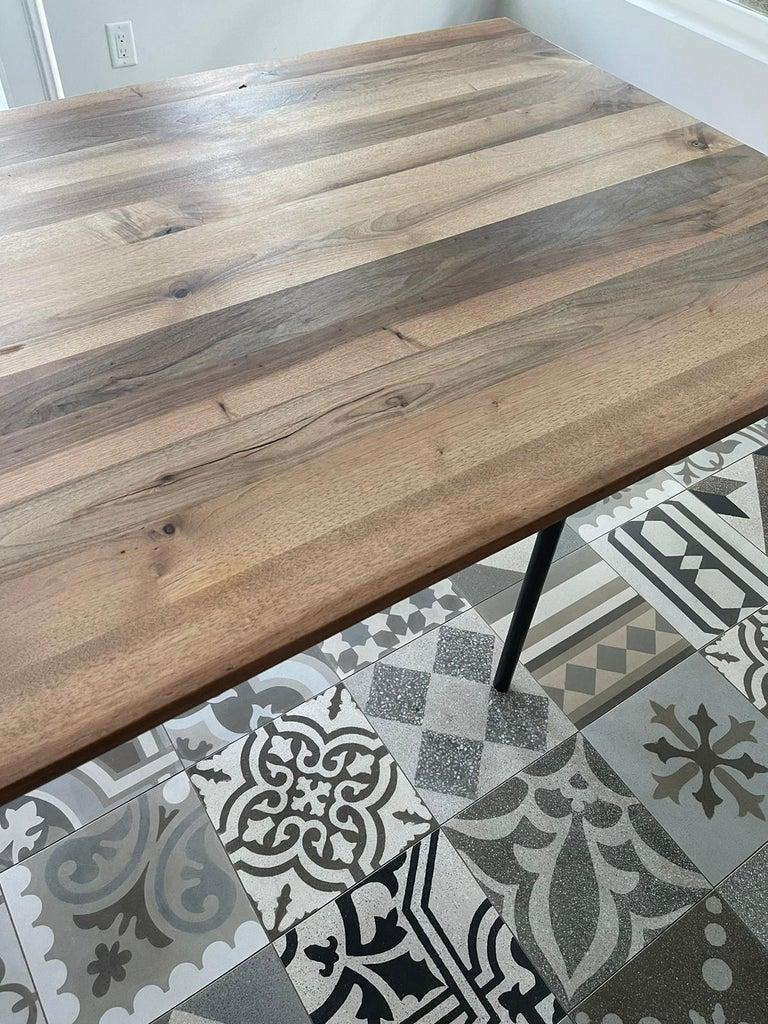 German E15 Anton European Walnut Top Wood Table designed by Philipp Mainzer For Sale