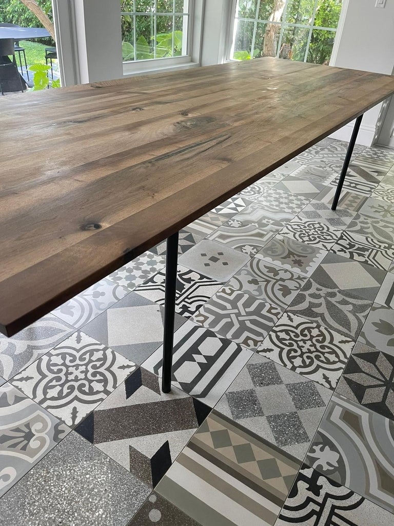 E15 Anton European Walnut Top Wood Table designed by Philipp Mainzer In Excellent Condition For Sale In New York, NY