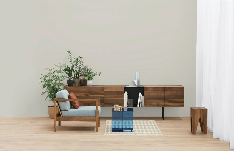 Modern e15 Araq Sideboard in Stainless Steel by Philipp Mainzer For Sale