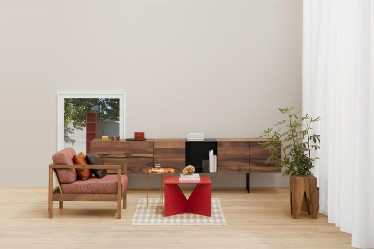 Contemporary e15 Araq Sideboard in Stainless Steel by Philipp Mainzer For Sale