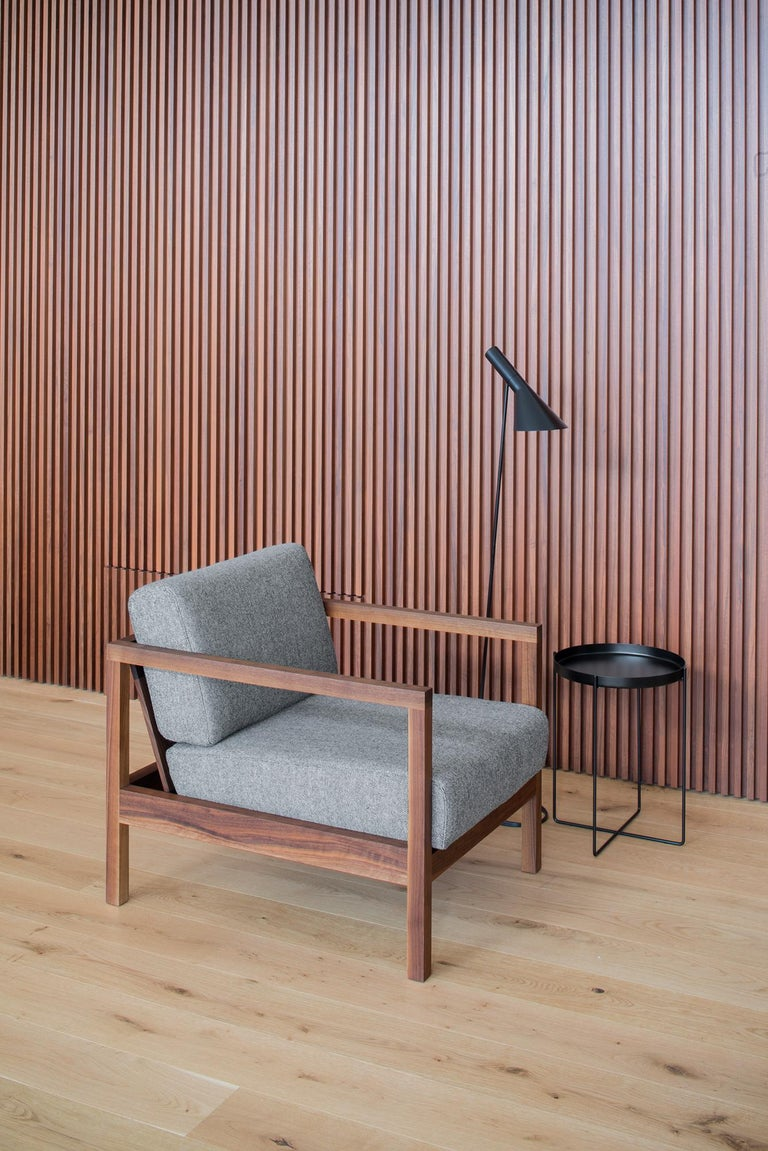 German e15 Byron Armchair in Walnut by Florian Asche and Philipp Mainzer For Sale