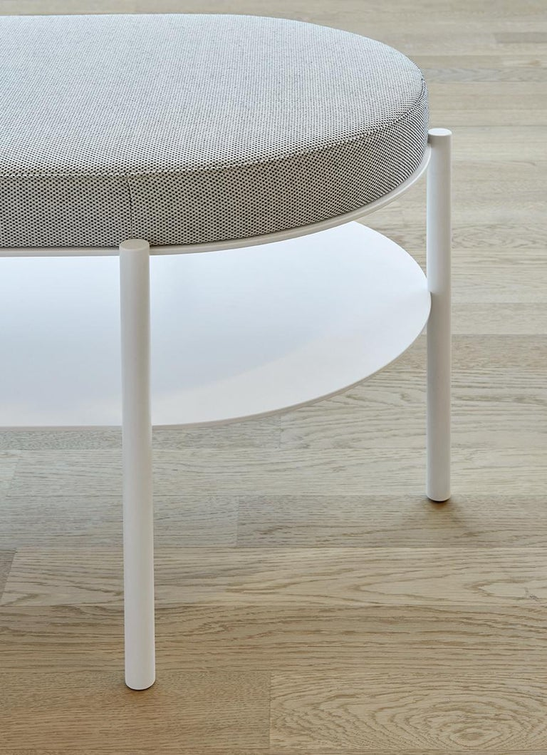 German e15 ELBE III Bench with Signal White Base by Marguerre, Besau and Schöning For Sale