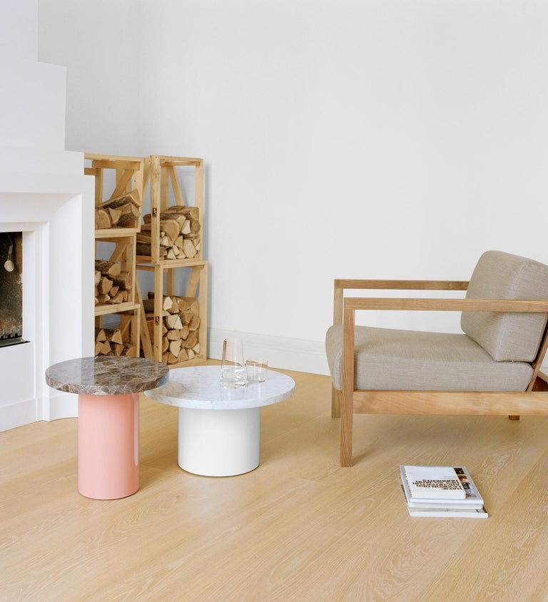 Modern e15 Enoki Side Table with White Base by Philipp Mainzer For Sale