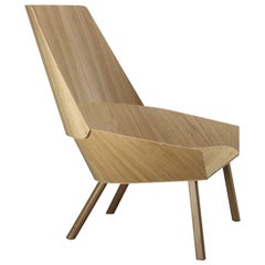e15 Eugene Lounge Chair with Oak Base by Stefan Diez