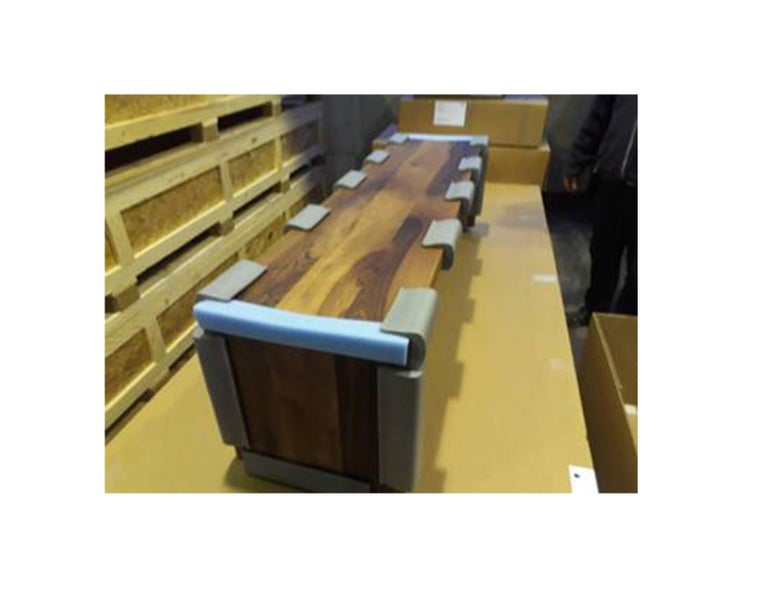 German e15 European Walnut Calle Bench For Sale